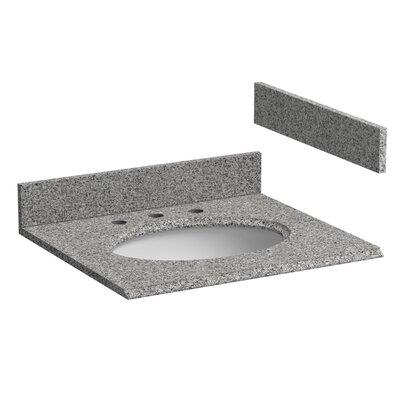 Granite 25 Single Bathroom Vanity Top Top Finish: Rushmore Gray