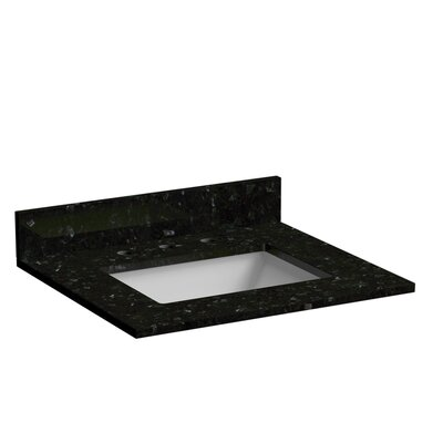 25 Single Bathroom Vanity Top Top Finish: Granite - Emerald Pearl