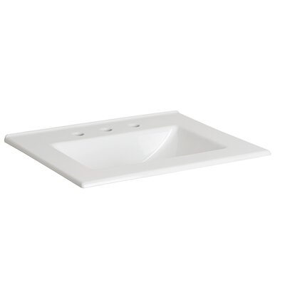 Fine Fire Clay 25 Single Bathroom Vanity Top