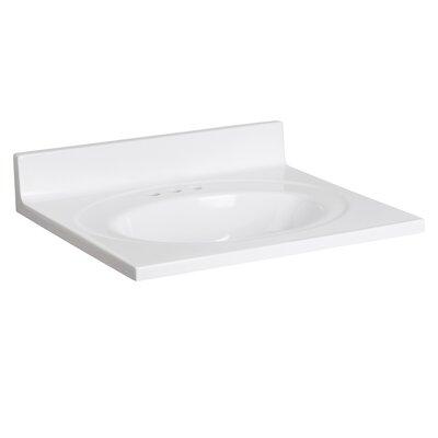 Cultured Marble 25 Single Bathroom Vanity Top