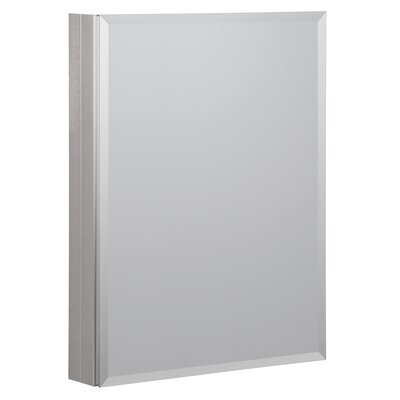 19 x 30 Recessed or Surface Mount Medicine Cabinet Finish: Brushed Nickel
