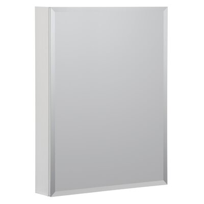 19 x 30 Recessed or Surface Mount Medicine Cabinet Finish: White