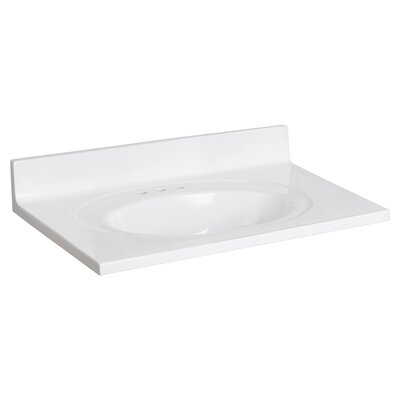 Cultured Marble 31 Single Bathroom Vanity Top