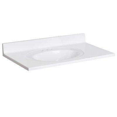 Cultured Marble 37 Single Bathroom Vanity Top