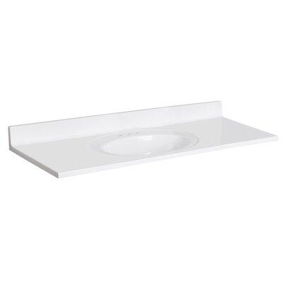 Cultured Marble 49 Single Bathroom Vanity Top