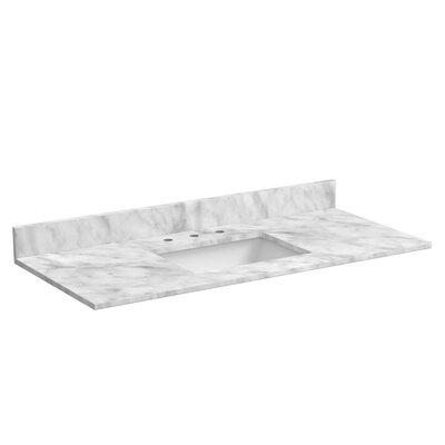 49 Single Bathroom Vanity Top Top Finish: Marble - Carrara White