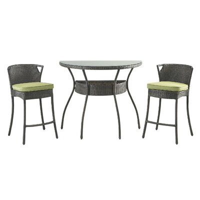 3 Piece Bistro Set with Cushion