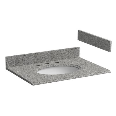 Granite 31 Single Bathroom Vanity Top Top Finish: Rushmore Gray
