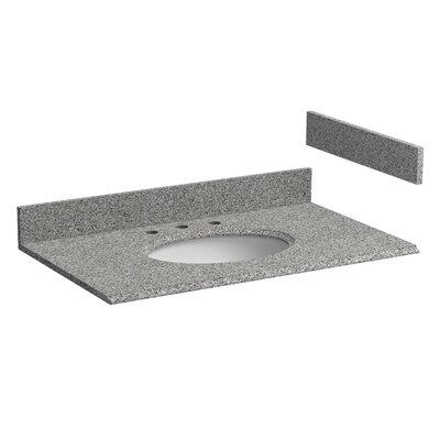 Granite 37 Single Bathroom Vanity Top Top Finish: Rushmore Gray