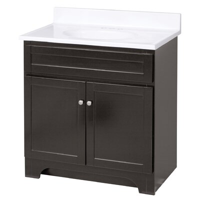 Merlo 31 Single Bathroom Vanity Set Base Finish: Espresso