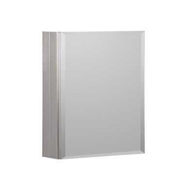 16 x 20 Recessed or Surface Mount Medicine Cabinet Finish: Brushed Nickel
