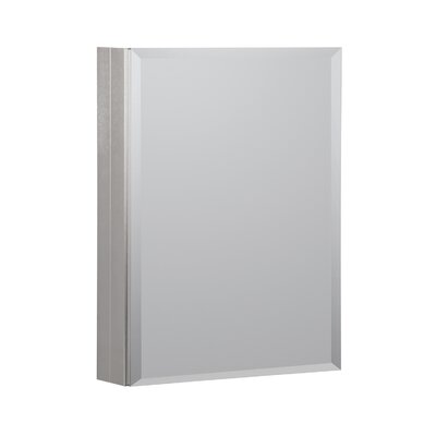 20 x 26 Recessed or Surface Mount Medicine Cabinet Finish: Brushed Nickel