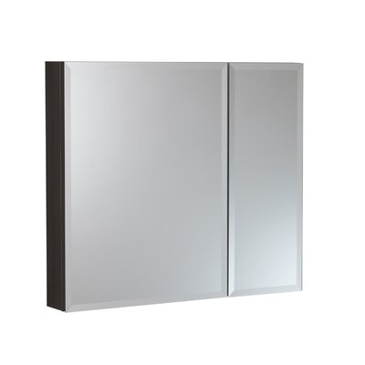 30 x 26 Surface Mount and Recessed Medicine Cabinet Finish: Black