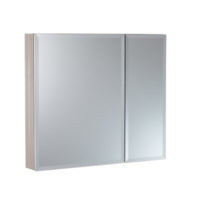 30 x 26 Surface Mount and Recessed Medicine Cabinet Finish: Brushed Nickel