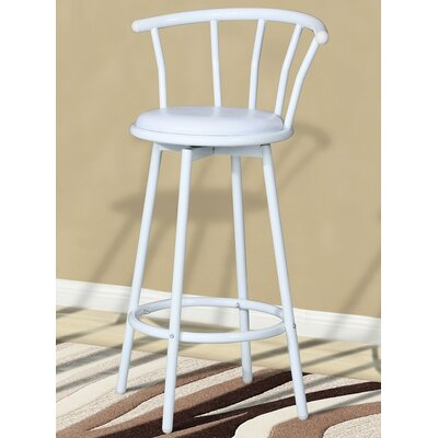 Swivel Bar Stool (Set of 4) Upholstery: White