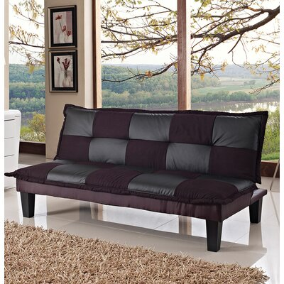 Sleeper Sofa Upholstery: Black/Gray