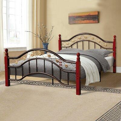 Platform Bed Size: Queen, Finish: Bronze