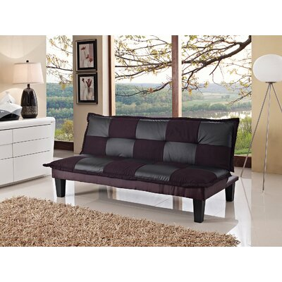Convertible Sofa Upholstery: Black/Gray