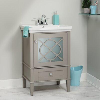 Peacehaven 24 Single Bathroom Vanity Set Base Finish: Gray