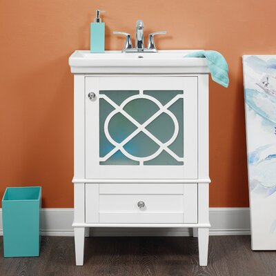 Peacehaven 24 Single Bathroom Vanity Set Base Finish: White