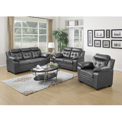 Yellowhammer 3 Piece Living Room Set Uphostery: Gray