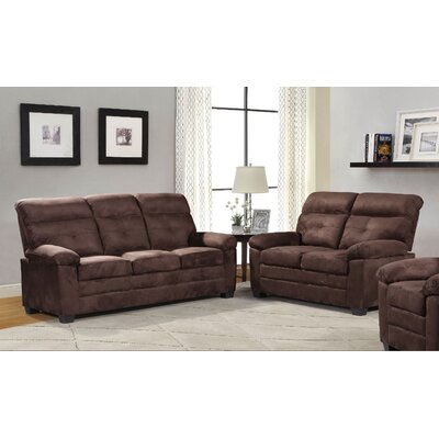 Blomquist 2 Piece Living Room Set Upholstery: Brown