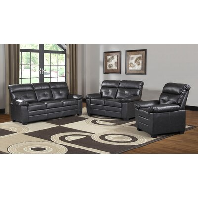 Judlaph Solid 3 Piece Living Room Set
