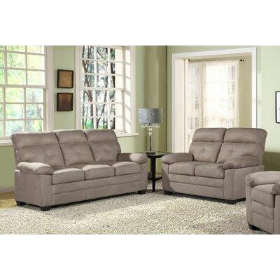 Blomquist 2 Piece Living Room Set Upholstery: Beige