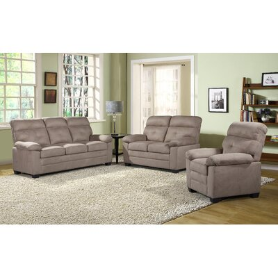 Judlaph 3 Piece Living Room Set Upholstery: Beige