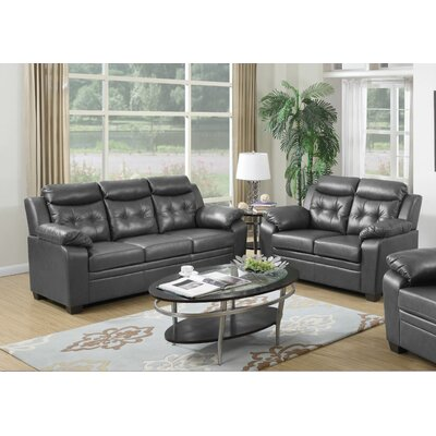 Blomquist 2 Piece Living Room Set Upholstery: Gray