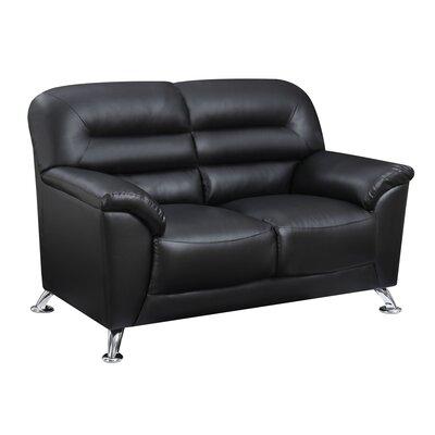 Polett Loveseat Upholstery: Black