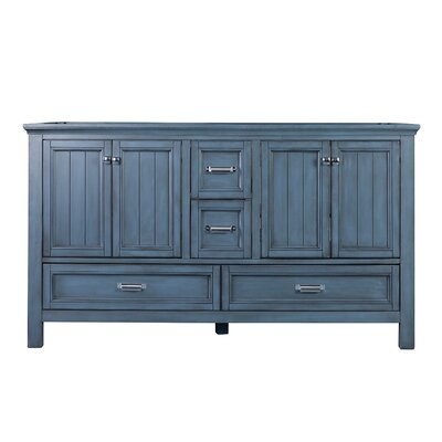 Brantley 60 Double Bathroom Vanity Base Finish: Harbor Blue
