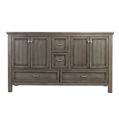 Brantley 60 Double Bathroom Vanity Base Finish: Distressed Gray