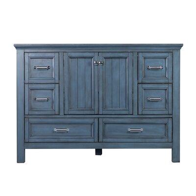 Brantley 48 Single Bathroom Vanity Base Finish: Harbor Blue