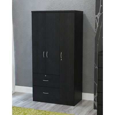 Black 3 Door Armoire