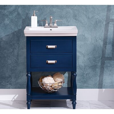 Inglenook 35 Single Bathroom Vanity Set Base Finish: Royal Blue