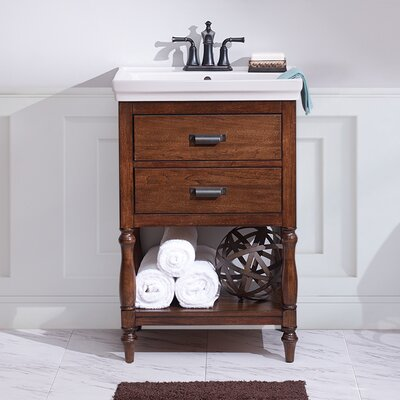 Inglenook 35 Single Bathroom Vanity Set Base Finish: Dark Walnut