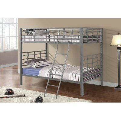 Functional Twin over Twin Bunk Bed Color: Silver