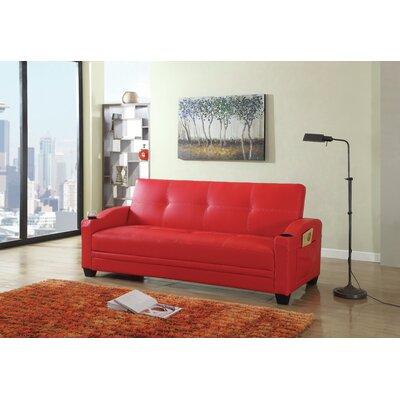 Functional Sleeper Sofa Upholstery: Red