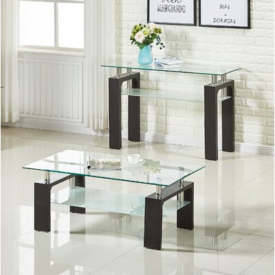 Brittaney End Table (Set of 2) Color: Coffee
