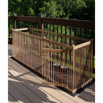 26 Walnut Pet Pen Color: Dark Walnut, Hinge: Right, Panel: Short