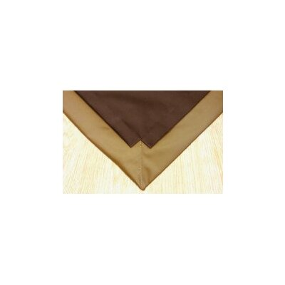 Pet Floor Mat with Pad for 2 x 6 Pen Color: Brown Inside & Gold Outside