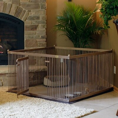 26 Elizabella Walnut Pet Pen Color: Dark Walnut, Hinge: Left