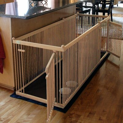 26 Maple Pet Pen Color: Black, Hinge Side: Left, Panel: Long
