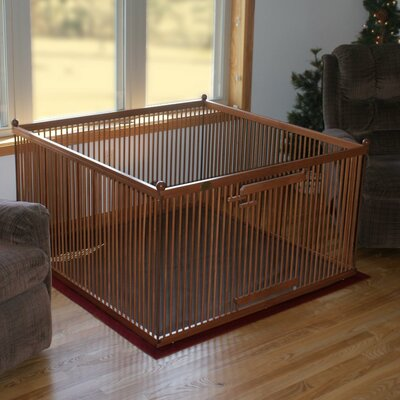 26 Finola Maple Left Hinged Pet Pen Color: Medium Brown