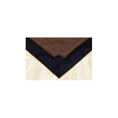 Pet Floor Mat with Pad for 4 x 4 Color: Brown Inside & Black Outside