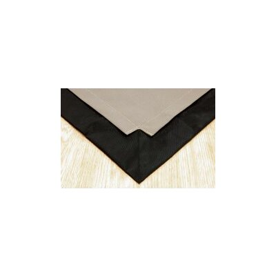 Pet Floor Mat with Pad for 4 x 4 Color: Taupe Inside & Black Outside