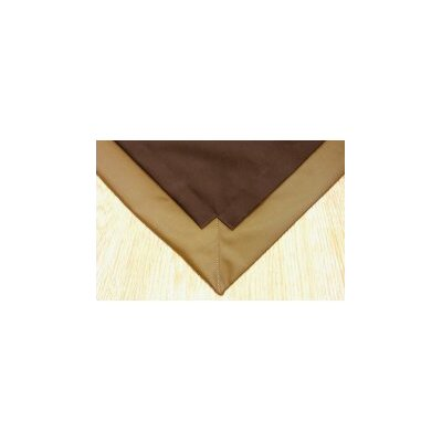 Pet Floor Mat with Pad for 4 x 4 Color: Brown Inside & Gold Outside