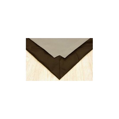 Pet Floor Mat with Pad for 4 x 4 Color: Taupe Inside and Brown Outside