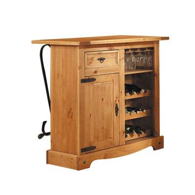 Hausbar Mexican Antik mit Weinregal   Küche und Esszimmer > Küchenregale > Weinregale   Brown   Mdf - Massivholz - Holz   Henke Collection